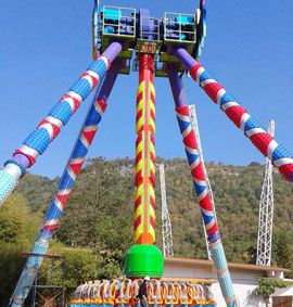 April 2016 Thailand park 5 different kinds rides installation